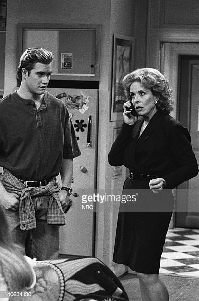 YEARS 'The Rave' Episode 15 Air Date Pictured MarkPaul Gosselaar as Zack Morris Holland Taylor as Dean Susan McMann Photo by Frank Carroll/NBCU Photo...