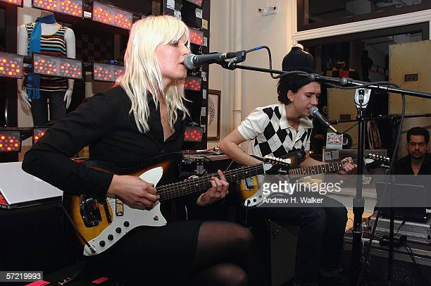 The Raveonettes perform at the launch of Ben Sherman's first official US Flagship Store on March 30 2006 in New York City