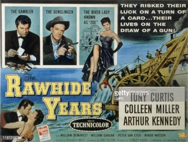 The Rawhide Years lobbycard Tony Curtis Arthur Kennedy Colleen Miller 1955