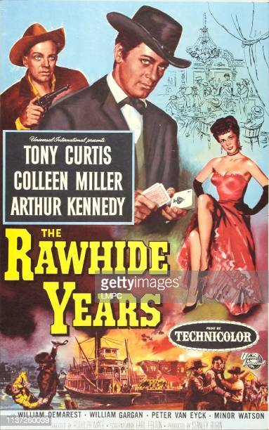The Rawhide Years poster US poster art top left Arthur Kennedy Tony Curtis Colleen Miller1955