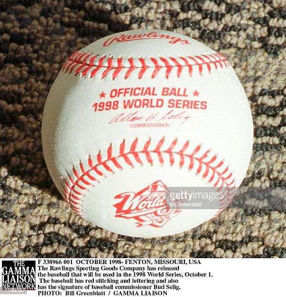 The Rawlings Sporting Goods Company has released the baseball that will be used in the 1998 World Series, October 1. The baseball has red stitching...
