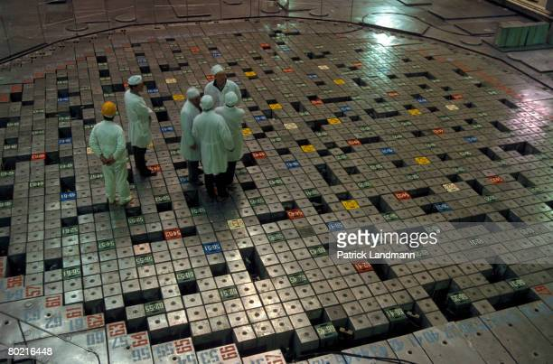 The reactor hall of reactor unit 1, which was shut down in 1996, seen here on June 1, 2006 inside the Chernobyl exclusion zone and nuclear power...