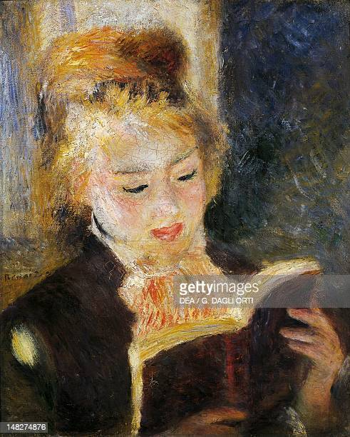 The reader 18751876 by PierreAuguste Renoir oil on canvas 47x38 cm Paris Musée D'Orsay
