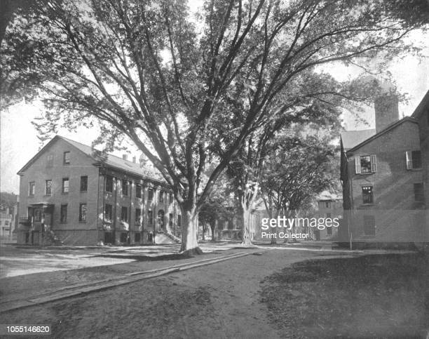 The Reading Hall and Treasury Yale College New Haven Connecticut USA circa 1900 Buildings on the campus of Yale University which was founded in 1701...