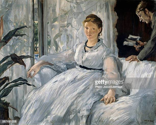 The Reading Painting by Edouard Manet 1865 06 x 073 m Orsay Museum Paris
