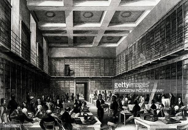 The reading room of the British Museum Engraving