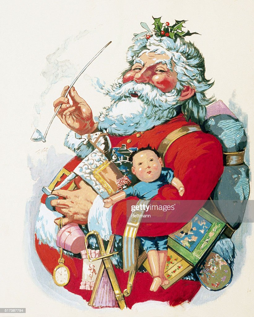 Merry Old Santa Claus by Thomas Nast : News Photo