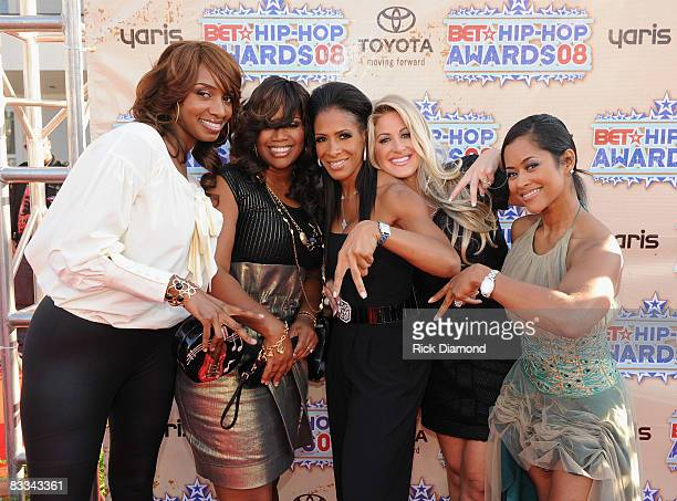 """""""The Real Housewives of Atlanta"""" attend the 2008 BET Hip-Hop Awards at The Boisfeuillet Jones Atlanta Civic Center on October 18, 2008 in Atlanta,..."""