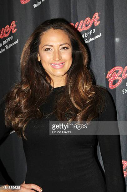 "The Real Housewives of New Jersey"" star Amber Marchese visits Buca di Beppo Times Sqaure on February 28, 2015 in New York City."