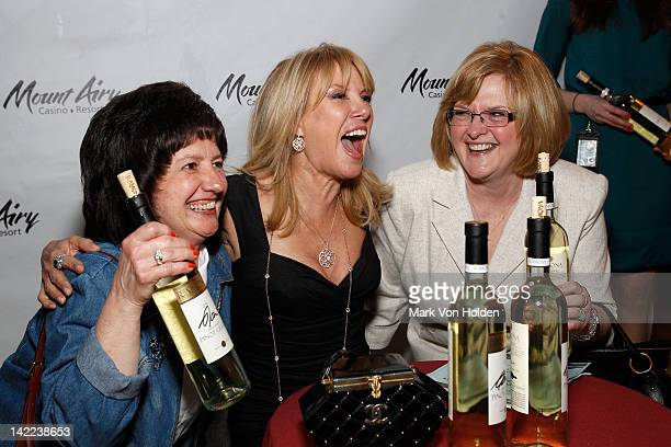 The Real Housewives Of New York's Ramona Singer greets fans at Mount Airy Casino Resort during a special tasting of Ramona's Pinot Grigio on March 31...