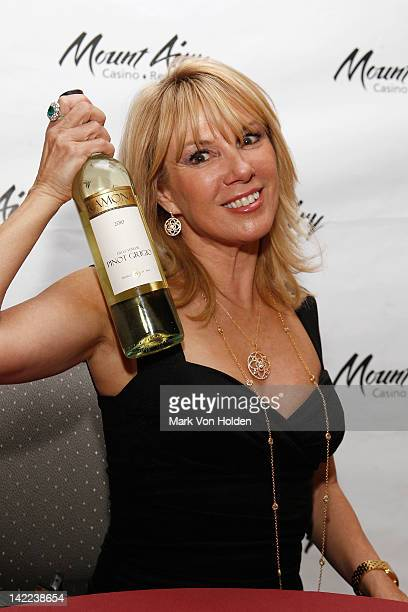 The Real Housewives Of New York's Ramona Singer poses at Mount Airy Casino Resort during a special tasting of Ramona's Pinot Grigio on March 31 2012...