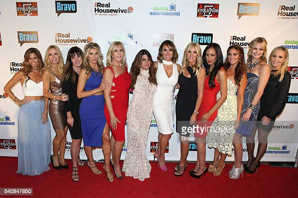 COUNTY 'The Real Housewives of Orange County' Season 11 Premiere Party in Los Angeles on June 16 2016 Pictured Lydia McLaughlin Peggy Tanous Jeana...
