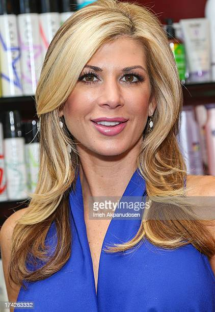 'The Real Housewives Of Orange County' star Alexis Bellino visits a hair salon on July 22 2013 in Anaheim California