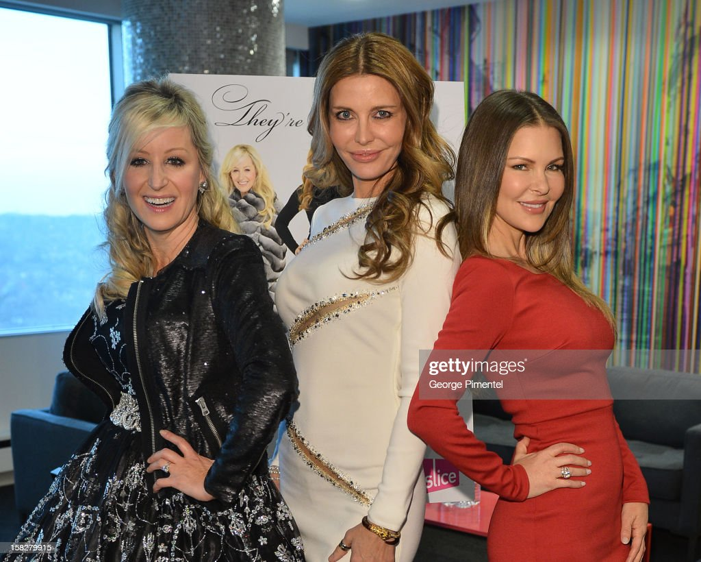 The Real Housewives of Vancouver Jody Claman, Ronnie Negus and Mary Zilba attend the Shaw Media Press Conference held at the Shaw Media Building on December 12, 2012 in Toronto, Canada.