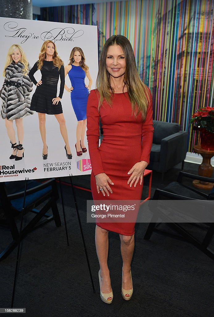The Real Housewives of Vancouver Mary Zilba attends the Shaw Media Press Conference held at the Shaw Media Building on December 12, 2012 in Toronto, Canada.