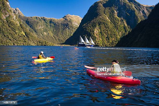 The Real Journey boat is one of the few tour companies to provide access to the highly remote area of Doubtful Sound. Kayaking is a great way to explore the Doubtful Sound in a natural way.
