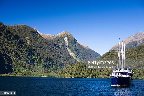 The Real Journey boat is one of the few tour companies to provide access to the highly remote area of Doubtful Sound