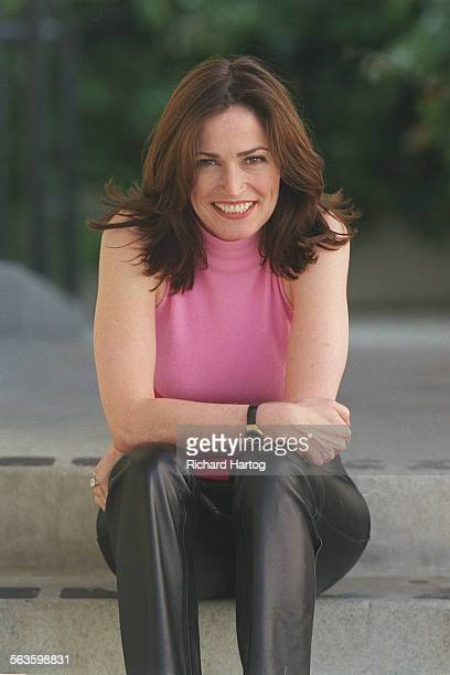 The real Kim Delaney a fun side that most viewers never see at Steven Bochco productions on the 20th Century Fox lot Monday afternoon in West Los...