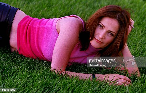 The real Kim Delaney a side that most viewers never see at Steven Bochco productions on the 20th Century Fox lot Monday afternoon in West Los Angeles...