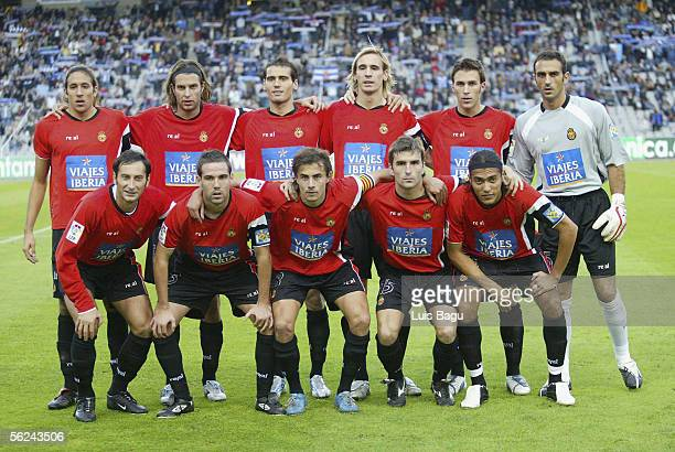 The Real Mallorca team pose before the match between RCD Espanyol and Mallorca of La Liga on November 2005 played at the Lluis Companys stadium in...