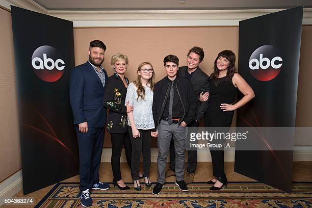 TOUR 2016 'The Real O'Neals' The cast and executive producers of 'The Real O'Neals' at Disney | ABC Television Group's Winter Press Tour 2016 Image...