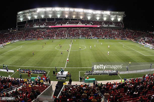 The Real Salt Lake during the opening kick against the New York Red Bulls during MLS Western Conference Finals as the New York Red Bulls win 10 at...