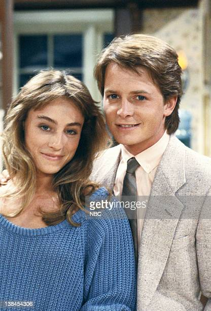 TIES The Real Thing pt 1 Episode 1 Aired 9/26/85 Pictured Tracy Pollan as Ellen Reed Michael J Fox as Alex P Keaton