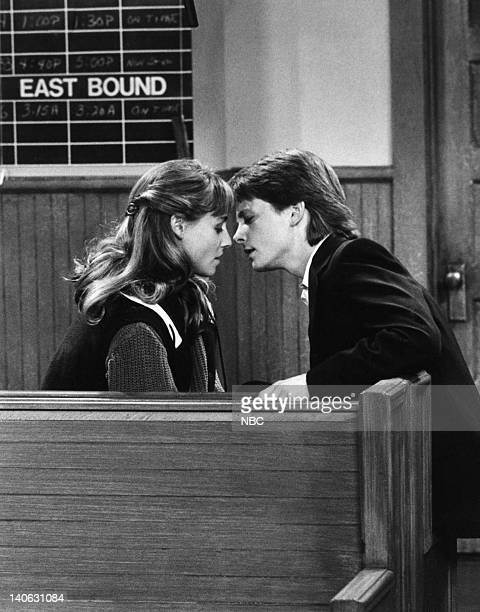 TIES The Real Thing Pt2 Episode 2 Pictured Tracy Pollan as Ellen Reed Michael J Fox as Alex P Keaton Photo by NBC/NBCU Photo Bank