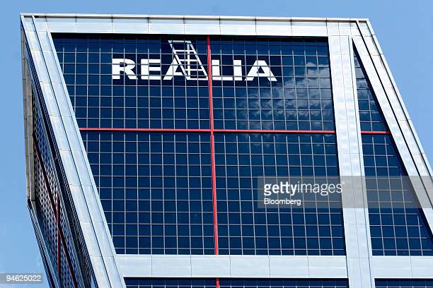The Realia Business SA logo is seen at it's headquarters in Madrid Spain Tuesday 5 June 2007 Realia Business SA raised 783 million euros in an...