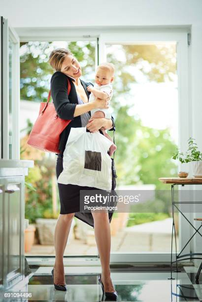 the reality of being a working mom! - super mom stock photos and pictures