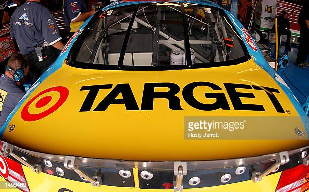 The rear deck on the Cheerios Dodge Intrepid R/T during practice for the EA Sports 500 at Talladega Superspeedway on October 4 2002 in Talladega...