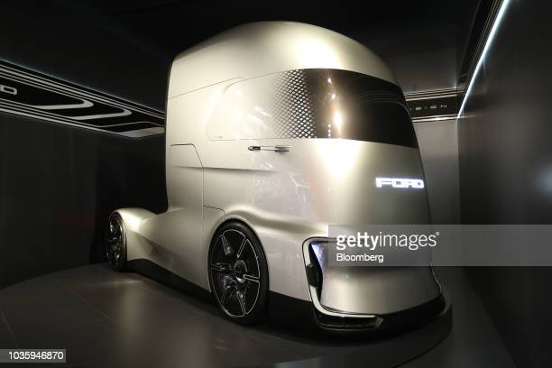 The rear doors of a Volkswagen AG Buzz electric cargo truck sit open at the IAA Commercial Vehicles Show in Hanover Germany on Wednesday Sept 19 2018...