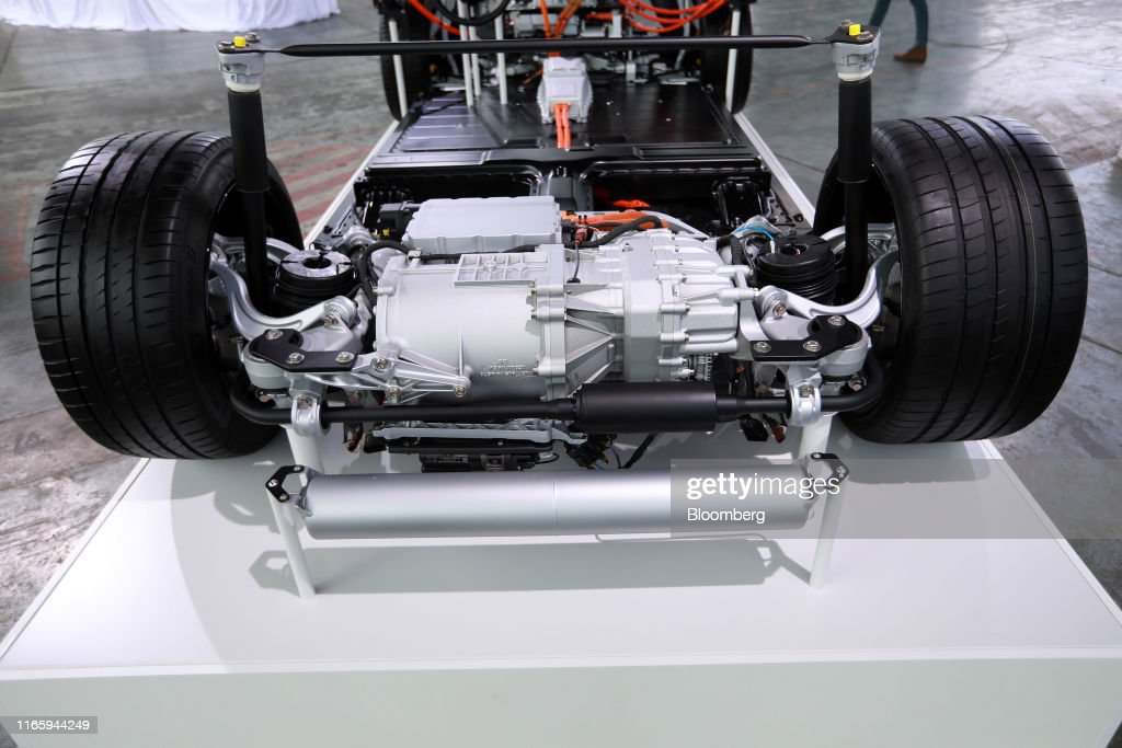 The Rear Electric Motor Sits On A Porsche Ag Taycan All Electric News Photo Getty Images