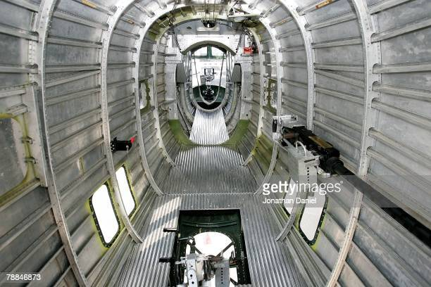 The rear interior of a World War IIera B24 Liberator bomber is seen during the Experimental Aircraft Association's 2007 AirVenture annual flyin and...