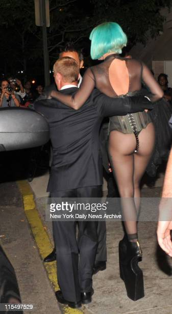 The rear view After the CFDA Awards ceremony at Alice Tully Hall Lincoln Center Lady Gaga greeted her fans fans waiting outside the stage door She...