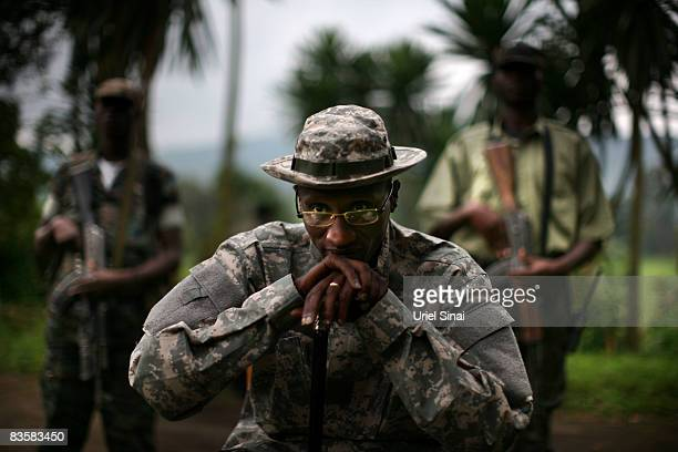 The rebel National Congress for the Defense of the People leader General Laurent Nkunda poses for a portrait at a CNDP headquarters on November 6...