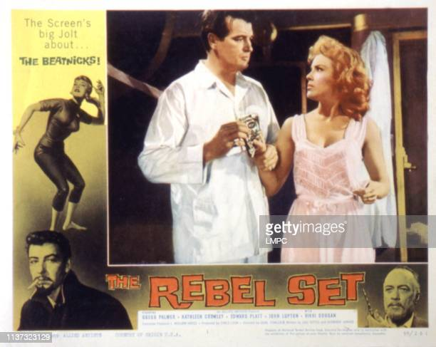The Rebel Set lobbycard Gregg Palmer Kathleen Crowley 1959