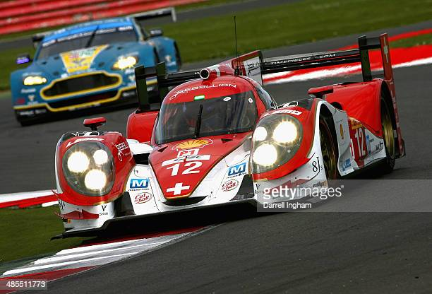The Rebellion Racing Lola B12/60 Toyota driven by Nicolas Prost of France Nick Heidfeld of Germany and Mathias Beche of Switzerland during practice...