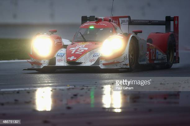 The Rebellion Racing Lola B12/60 Toyota driven by Nicolas Prost of France Nick Heidfeld of Germany and Mathias Beche of Switzerland during the FIA...