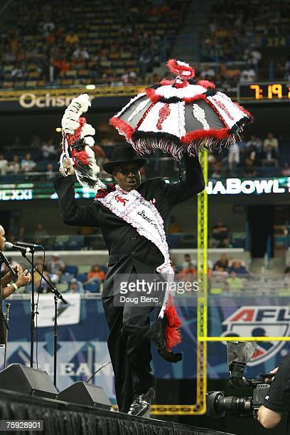 The Rebirth Brass Band performs during halftime between the Columbus Destroyers and the San Jose SaberCats during ArenaBowl XXI at New Orleans Arena...