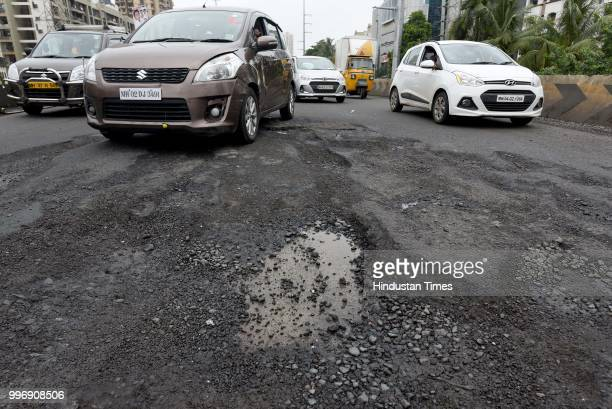 The recent heavy spell of showers has increased the problem of commuters as huge potholes have appeared on various roads in the city after rain on...