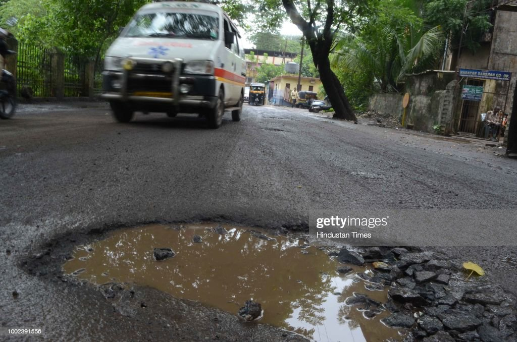 Potholes Appear After A Spell Of Heavy Rains, Slow Repair Work By Mumbai Municipal Corporation