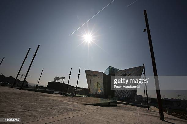 The recently completed Titanic Belfast Experience building is located on the original slipway of RMS Titanic on March 27 2012 in Belfast Northern...