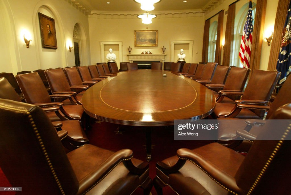 White House Cabinet Room Refurbished After 22 Years : News Photo