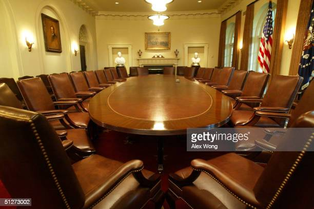 the recently refurbished cabinet room is seen during a media tour 8 picture id