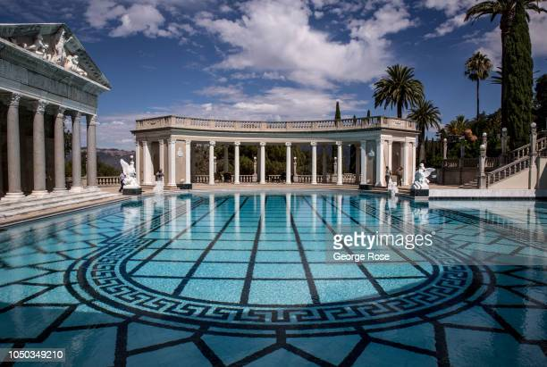 The recently restored Neptune Pool at Hearst Castle is viewed on October 4 in San Simeon California Hearst Castle built by newspaper publisher...