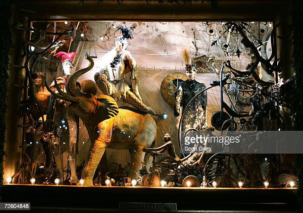 The recently unveiled holiday windows at Bergdorf Goodman are seen on November 19 2006 in New York City