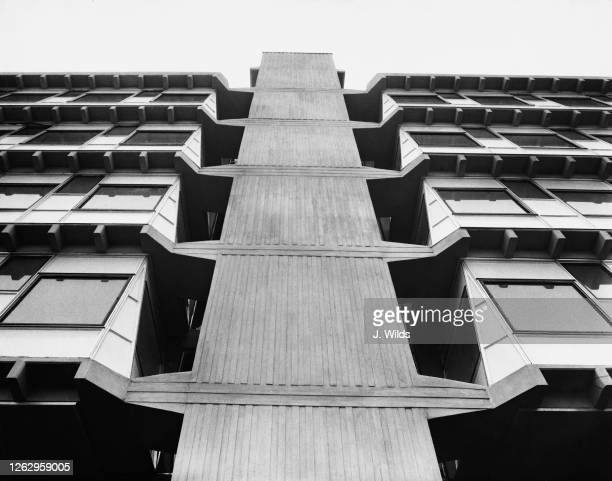 The recently-completed Granada House, a new office block in Hounslow, London, 17th September 1963.