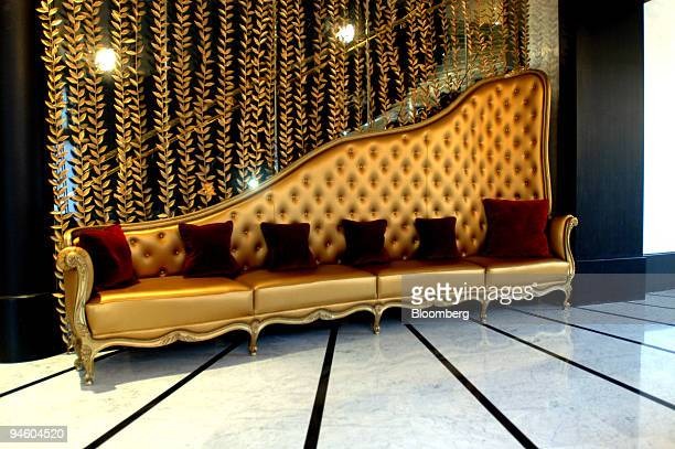 The reception area is seen at the new Fouquet's Barriere Hotel in Paris France on Tuesday October 31 2006 The first fivestar hotel built in Paris...