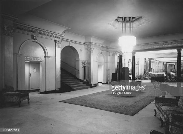 The reception hall at new luxury hotel The Dorchester Park Lane London 20th April 1931